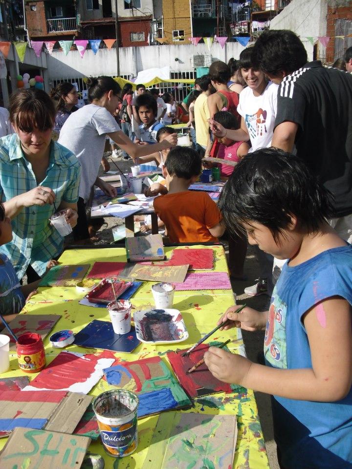 Encuentro de Libros y Vecinos en el Barrio Carlos Mugica (ex Villa 31)