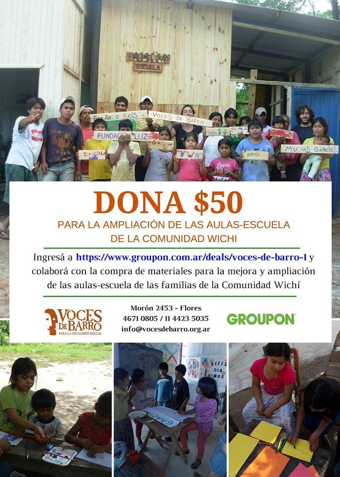 Campaña Solidaria con GROUPON